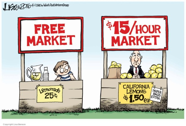 The free market beats government planning every time the for Marke minimum